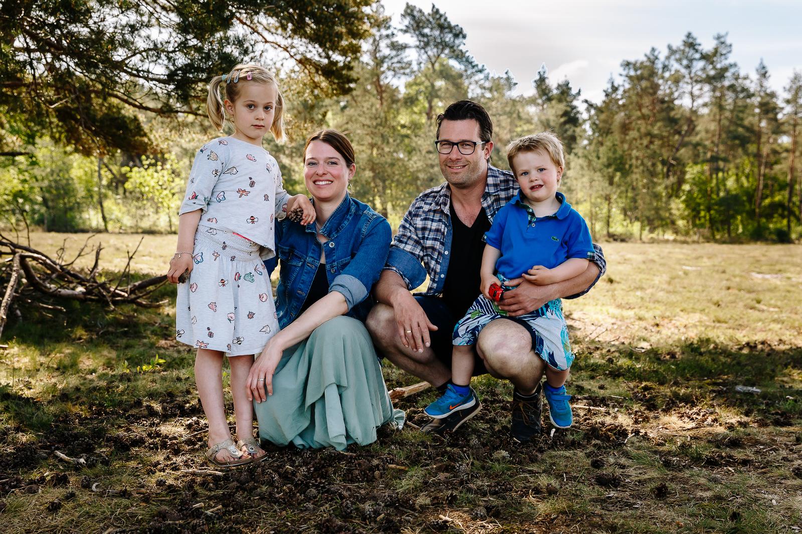 Familie portret, gezinshoot, familiefotografie